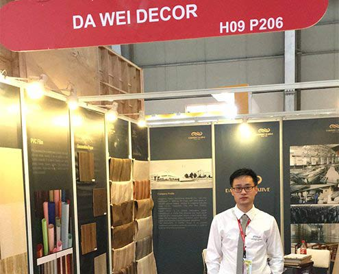 Dawei sales at INDIAWOOD Exhibition