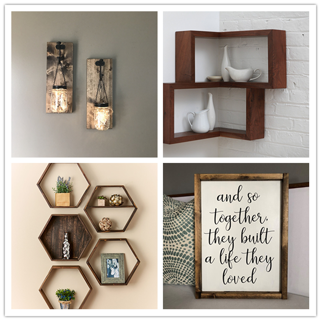 Wood lines and photo frame