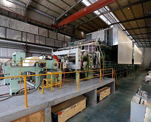 Finish foil paper production line