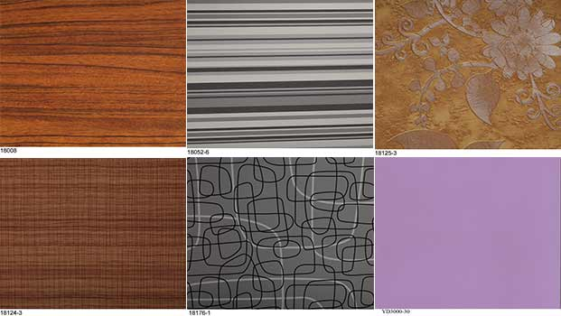 solid furniture paper wood grain paper and flower decorative paper finish foil