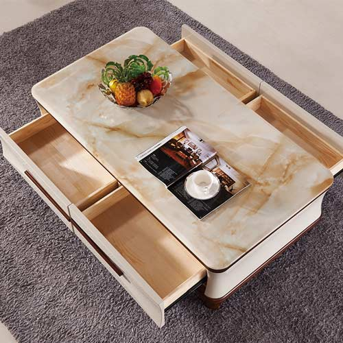 marble finish foil for coffee table