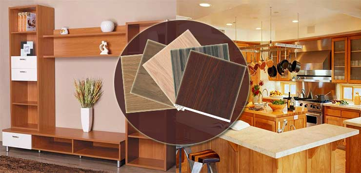 wood grain finish foil laminate paper